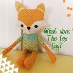 Quilt Story: Adorable fox softie from Heather. What DOES the fox say?? Sorry about that.  So sweet and snuggly!