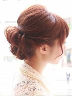 【BOLEYBOLLEY】クラシカルアップ/BOLLEY BOLLEY 【ボレー ボレー】をご紹介。2017年春の最新ヘアスタイルを100万点以上掲載!ミディアム、ショート、ボブなど豊富な条件でヘアスタイル・髪型・アレンジをチェック。 Evening Hairstyles, Bride Hairstyles, Cute Hairstyles, Hair Arrange, Hair Setting, Updos, Salons, Kimono, Elegant