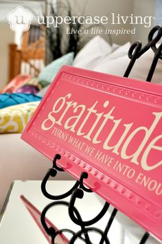 #grateful  #ullife  #liveinspired  #4walldesigns Grattitude on long tile