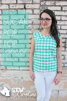 Sugar Pop Top Now Available | Sewing Patterns | SewCaroline.com