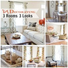 Our DIY Decorating Inspiration {3 Rooms 3 Looks} @Mandy Dewey Generations One Roof
