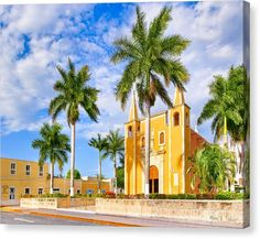 Christian Canvas Print featuring the Heart Of Santa Ana Barrio - Merida by Mark E Tisdale