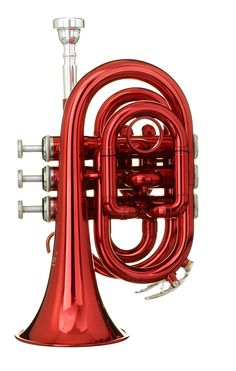 Academy Famous Pocket Trumpets Pocket Trumpet, Jazz Instruments, Red Space, French Horn, Candy Apple Red, Firecracker, Music Stuff, Metal Working, Favorite Color