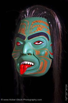 Native American Art Mask Otter Woman Sean Whonnock Vancouver Island British Columbia Canada