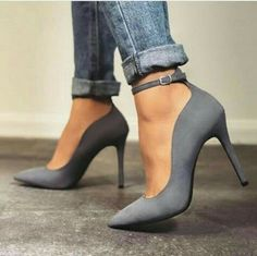 grey heels buckle The post yessssss. grey heels buckle 2019 appeared first on Denim Diy. Grey Heels, Pumps Heels, Stiletto Heels, Stilettos, High Heel Pumps, Cute Shoes, Me Too Shoes, Pretty Shoes, Daily Shoes