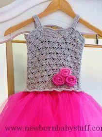 Crochet Baby Dress Tutu Dress Crochet Pattern, Crochet Baby Dress Pattern, Pdf ...