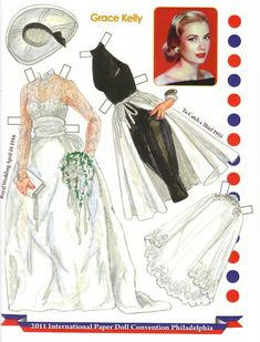 Grace Kelly clothes illustrated by David Wolfe