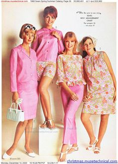 60s And 70s Fashion, Mod Fashion, Vintage Fashion, 1960s Outfits, Vintage Outfits, Pattern Fashion, Christmas Catalogs, Spring Summer Fashion, 60s Style