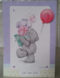 Decoupage 3d Me to You Tatty Teddy card. Love Tatty Teddy. So cute