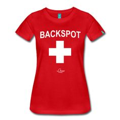 """Lifeguard Inspired """"BACKSPOT"""" T-Shirt // Exclusive t-shirts, hoodies, and iPhone cases for allstar, rec, pop warner, and high school cheerleaders!  Available only from The Cheer Society!"""