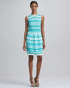 Zigzag Wave Stripe Dress by M Missoni at Neiman Marcus.