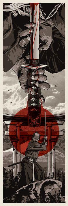 EVAN 052 Japanese Samurai - Combat Warrior from Japan Art Print Poster Ronin Samurai, Samurai Warrior, Fantasy Anime, Fantasy Art, Japanese Drawing, Samurai Artwork, Samurai Tattoo, Art Japonais, Japan Art