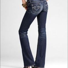 Lucky Brand Low-Rise * Boot-Cut Jeans * Women size 27x32 * Button ...