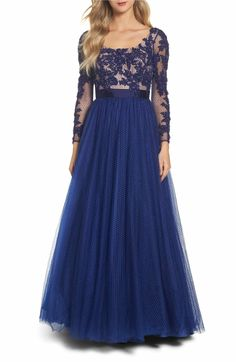Main Image - Mac Duggal Beaded Bodice Gown