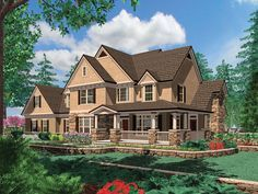 Luxurious Country Living - 69072AM | Country, Farmhouse, Photo Gallery, 2nd Floor Master Suite, Bonus Room, Butler Walk-in Pantry, CAD Available, Den-Office-Library-Study, Elevator, PDF, Corner Lot | Architectural Designs