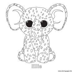 Ellie - Beanie Boo Coloring Pages Penguin Coloring Pages, Fall Coloring Pages, Truck Coloring Pages, Free Coloring Sheets, Christmas Coloring Pages, Coloring Pages To Print, Adult Coloring Pages, Coloring Books, Dragon Coloring Page