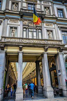 Galeries Royales Saint Hubert (Koninklike Sint Hubertugalerijen) Brussels Belgium