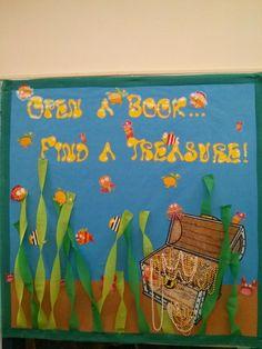 Pirate Bulletin Board To Encourage Reading In School