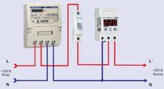 Схема подключения однофазного реле контроля напряжения