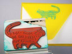 Custom Pet Return Address Stamp by paperpastries