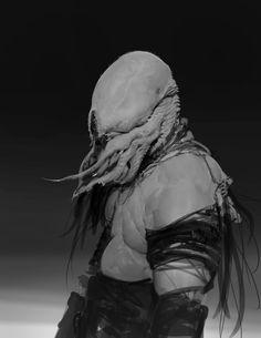 Squid Face, Anthony Jones on ArtStation at https://www.artstation.com/artwork/1YEBX