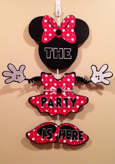 Minnie Mouse Party Door Sign Birthday by CutestBowsOnTheBlock, $20.00