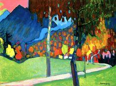 Autumn Study in Oberau Wassily Kandinsky - 1908