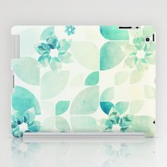 Flowers and Snowflakes Pattern iPad Case by VessDSign - $60.00