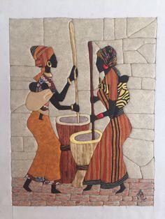 Allan Lucas Felt Flower Pillow, African Art Paintings, Clay Wall Art, Intarsia Patterns, Batik Art, Beautiful Barbie Dolls, Leather Art, Mural Art, Hanging Wall Art
