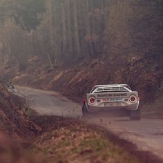 Rally Racing, the realest of all racing. Love the Lancia Stratos Vintage Racing, Vintage Cars, Autos Rally, Automobile, Rally Raid, Martini Racing, Car And Driver, Amazing Cars, Car Car