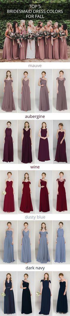 top 5 bridesmaid dress colors for fall weddings