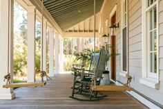 In the South, the Porch Comes First – Garden & Gun Outdoor Spaces, Outdoor Living, Haint Blue, Greek Revival Home, Palmetto Bluff, Blue Ceilings, Party Venues, Home Ownership, Low Country