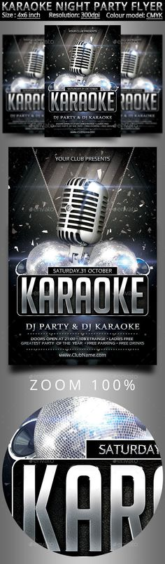 Karaoke Night Flyer Template | Ideas | Pinterest | Flyer Template