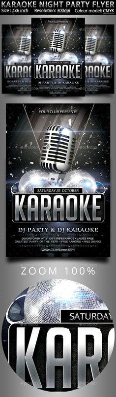 Karaoke Night Flyer Template Advice, Karaoke and Flyer template - movie night flyer template