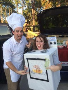 Chef and Bun in the Oven Halloween costumes!