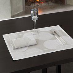 Set Paillettes Argent 48x36 100% coton - La Table - Le Jacquard Français