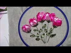 Wonderful Ribbon Embroidery Flowers by Hand Ideas. Enchanting Ribbon Embroidery Flowers by Hand Ideas. Blackwork Embroidery, Learn Embroidery, Embroidery For Beginners, Hand Embroidery Patterns, Satin Ribbon Flowers, Ribbon Art, Diy Ribbon, Ribbon Embroidery Tutorial, Silk Ribbon Embroidery
