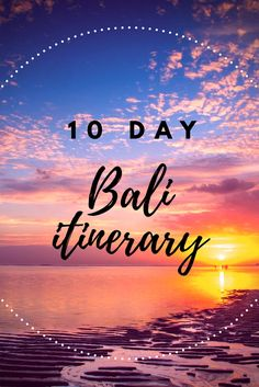 Bali Bound: 10 Day Luxury Bali Itinerary. Click on the pin to read the post from www.flirtingwiththeglobe.com