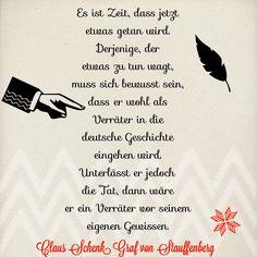 Von Claus Schenk Graf von Stauffenberg