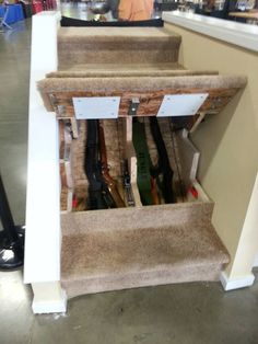 #stairs #gun #safe for when the shit goes down