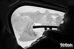 The crew's view from the helicopter while filming in Alaska. #heliski #ski #exploration Photo: Dana Flahr