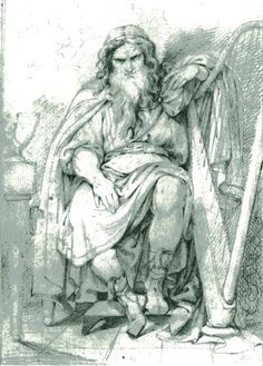 Bragi, norse god of poetry Carl Wahlbom (1810–1858) was a Swedish military artist.