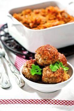 Masové kuličky se zelím Czech Recipes, Ethnic Recipes, Dinner, Czech Food, Cooking, Foodies, Diet, Dining, Kitchen