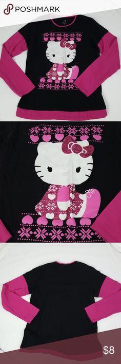 "Hello Kitty Long Sleeved Shirt 18"" Long  17"" Chest  Bin C35 Hello Kitty Shirts & Tops Tees - Long Sleeve"