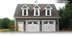 One bedroom garage apartment over two car garage plan for How much to build a 3 car detached garage