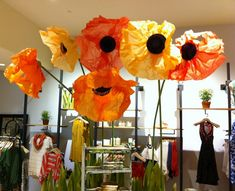 Giant Tissue Paper Flowers | Enormous attention grabbers!
