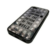 For Apple iPhone 5C 5 C Case Cover Skin Conformity Quote Inspirational DESIGN BLACK RUBBER SILICONE Teen Gift Vintage Hipster Fashion Design Art Print Cell Phone Accessories MonoThings,http://www.amazon.com/dp/B00JELVTB0/ref=cm_sw_r_pi_dp_fUZotb1TCYKHG8N5