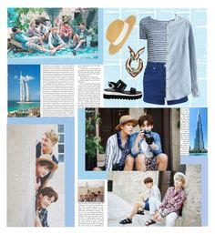 """Dubai with BTS"" by ninaxo17 ❤ liked on Polyvore featuring Oris, Majestic Filatures, Miss Selfridge, Etro, Brooklyn Hat Co. and Love Moschino"