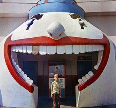 1953 - Santa Cruz, California Beach.  I loved this fun house on the boardwalk.