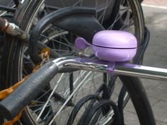 bike bell, purple